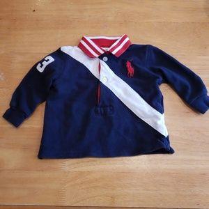 Ralph lauren layette polo shirt size 3M